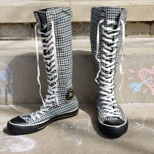 "Converse Shoes - Converse Knee High Plaid ""Boots"",  M8 W10 UK8"